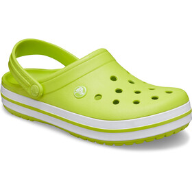Crocs Crocband Sandaler, lime punch/white